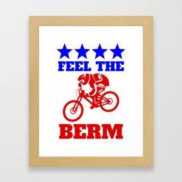 Bernie Sanders Mountain Bike Framed Art Print