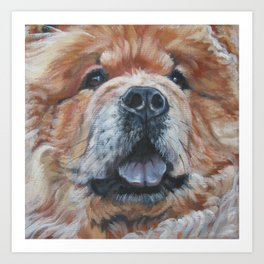 the chow chow dog portrait fine Art Dog Painting from an original painting by L.A.Shepard Art Print