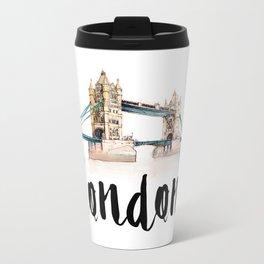 London watercolor Metal Travel Mug