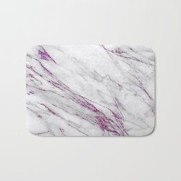 Gray and Ultra Violet Marble Agate Bath Mat