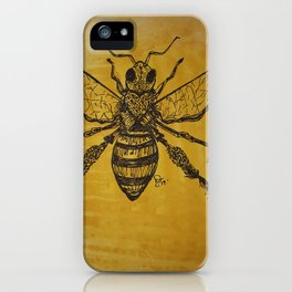 bee nice,honey comb vibes,save the bees iPhone Case