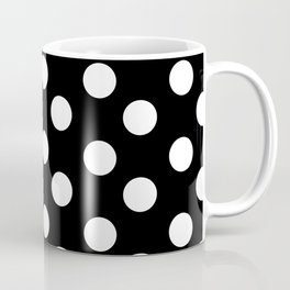 Polka Dot (White & Black Pattern) Coffee Mug