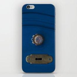 Blue Door Details iPhone Skin