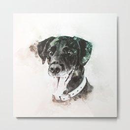 Labrador Retriever Digital Watercolor Painting Metal Print