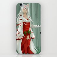 okami iPhone & iPod Skins featuring Okami - Amaterasu by Rinneii