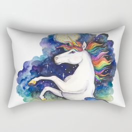 Watercolor Unicorn Rectangular Pillow