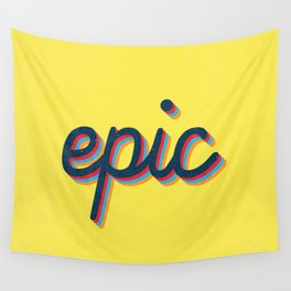 Epic - yellow version Wall Tapestry