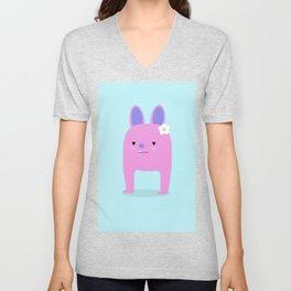 Grumpy bunny Unisex V-Neck