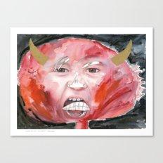 I feel angry Canvas Print