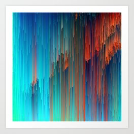 All About Us - Abstract Glitch Pixel Art Art Print
