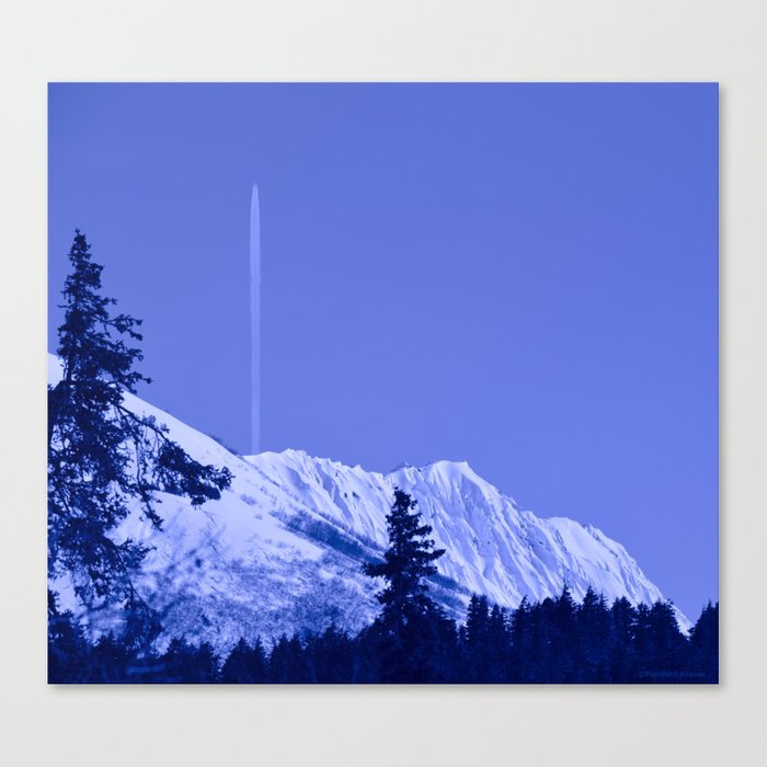 True Blue Canvas Print