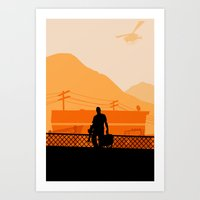 grand theft auto Art Prints featuring Grand Theft Auto: Trevor by mcsjackson