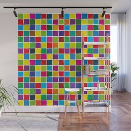 Colorful color squares Wall Mural