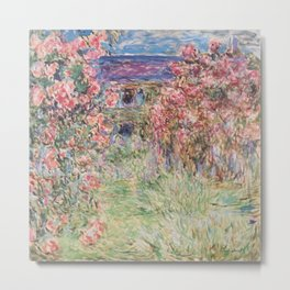 Monet, The House Among The Roses, 1917-1919 Metal Print
