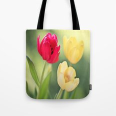 Red & Yellow Tulips Tote Bag