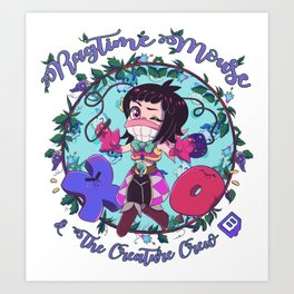 Ragtime Mouse & the Creature Crew! Art Print