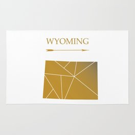 Wyoming In Gold Rug