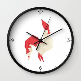 Origami Rooster Wall Clock