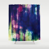 magical girl Shower Curtains featuring Magical Girl Blue by Misi