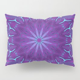 Pink, Purple, and Blue Flower Pillow Sham