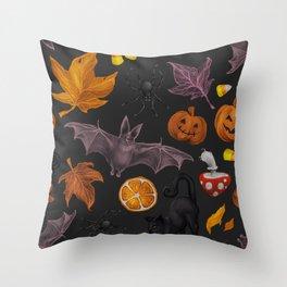 October pattern Throw Pillow