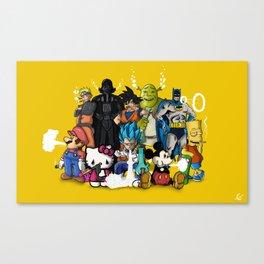 Cartoon Characters Smoking Canvas Print