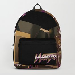 Waveshaper 80s synthwave cyberpunk robot Backpack