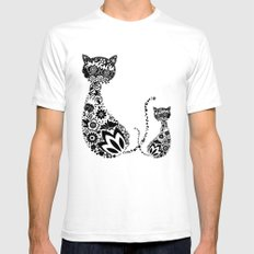 Cats Of Inversion - Digital Work SMALL Mens Fitted Tee White