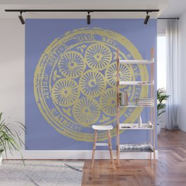 flower power: variations in periwinkle & gold Wall Mural