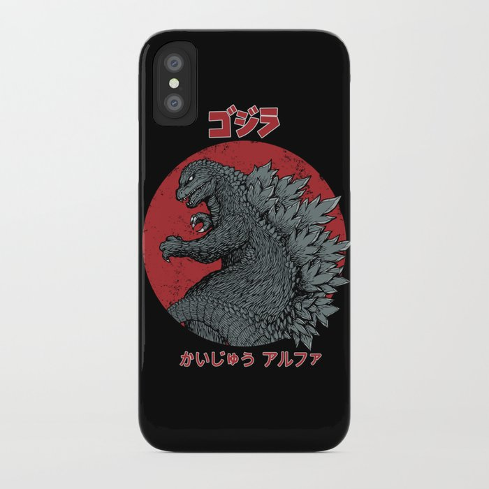 gojira kaiju alpha iphone case