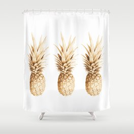 Pineapples and illusion Shower Curtain