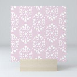 pink flower pattern Mini Art Print