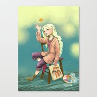 luna lovegood Canvas Prints featuring Resting time by Morgane Velten