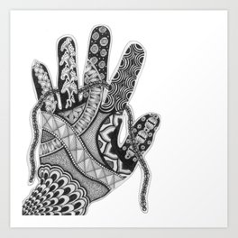 Zentangle®-Inspired Art - ZIA 33 Art Print