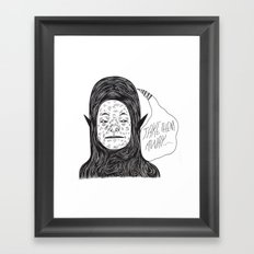 Alien Thoughts Framed Art Print
