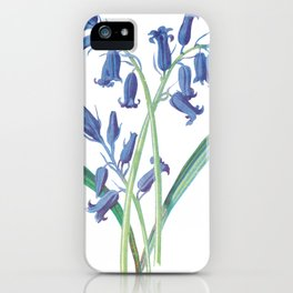 Blue Lily of the Valley Artwork Painting iPhone Case