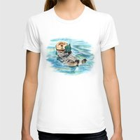 otter T-shirts featuring Otter by Anna Shell