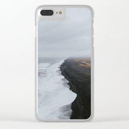 Black Sand Beach Clear iPhone Case