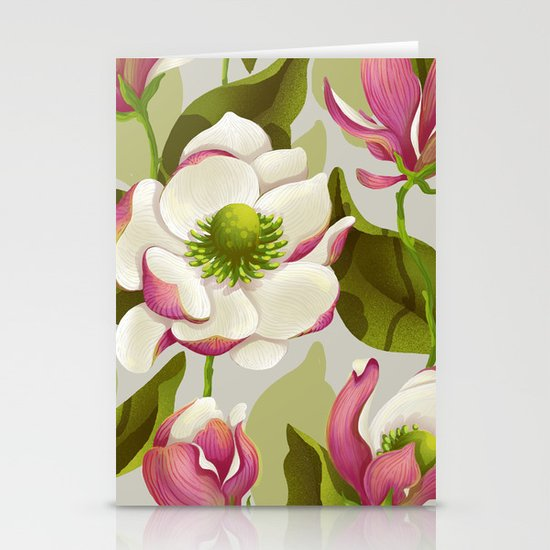 magnolia bloom - daytime version Stationery Cards