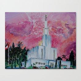 Bern Switzerland LDS Temple Canvas Print