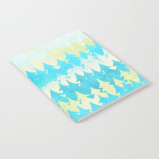 The secret forest -on a wonderful day - Abstract tree pattern Notebook