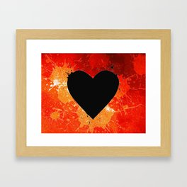 Red Hot Heart Framed Art Print