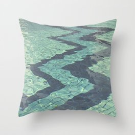 Pool zig zags Throw Pillow
