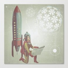 Space Woman Canvas Print