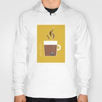 70s Hoodies featuring 70s Coffee by Morgane Cazaubon