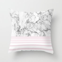 Candy Stripe Marble Throw Pillow