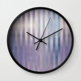 Lilac blue stripes Wall Clock