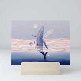 Whale dream Mini Art Print