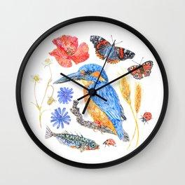 Summer Wildlife Wall Clock
