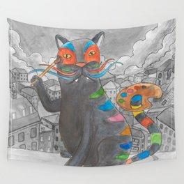 Artist Cat Wall Tapestry